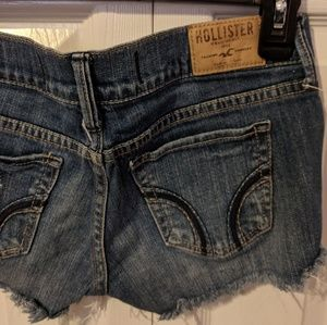 Hollister Shorts - Hollister distressed ripped jean shorts